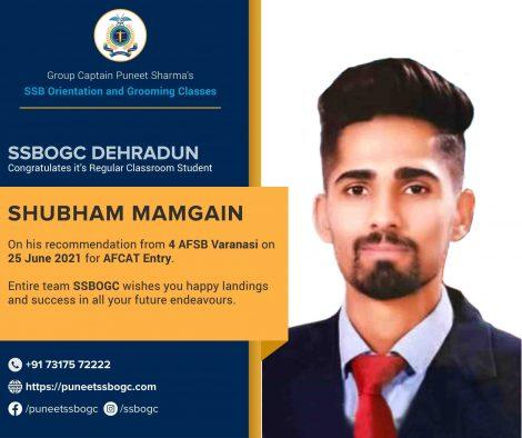 SHUBHAM MAMGAIN